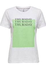 Thursday Weekday Tee In White