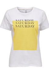 Saturday Weekday Tee In White