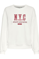 cream New York sweatshirt