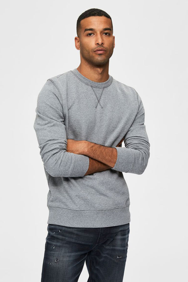 Jason Grey Crew Neck Sweatshirt