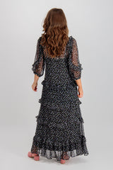 Penelope Black Floral Maxi Dress