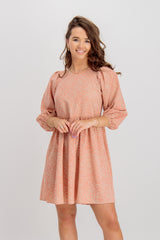 Gilberta Coral Printed Shift Dress