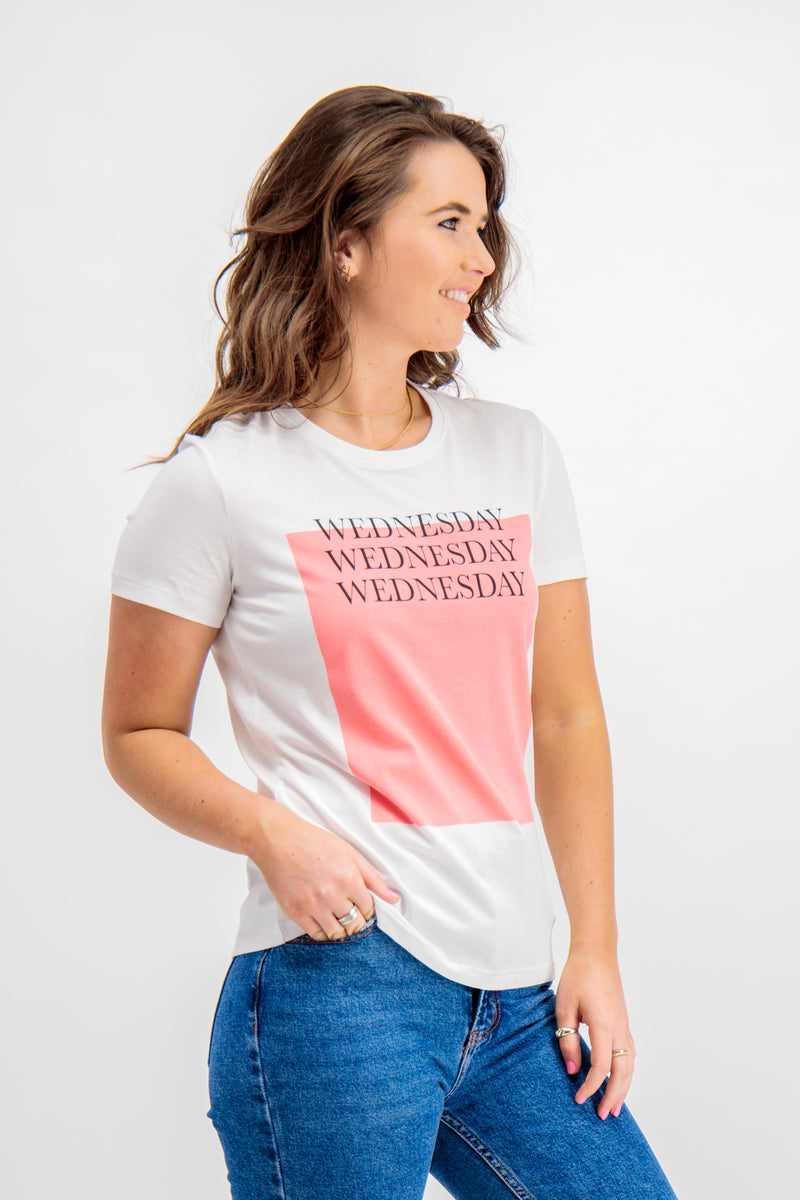Wednesday Weekday Tee In White