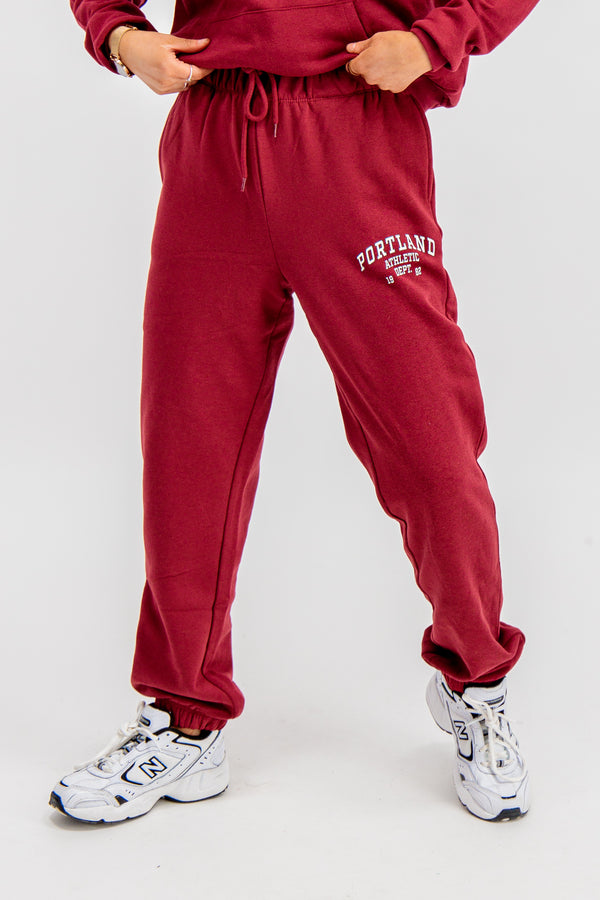 College Portland Maroon Sweatpants