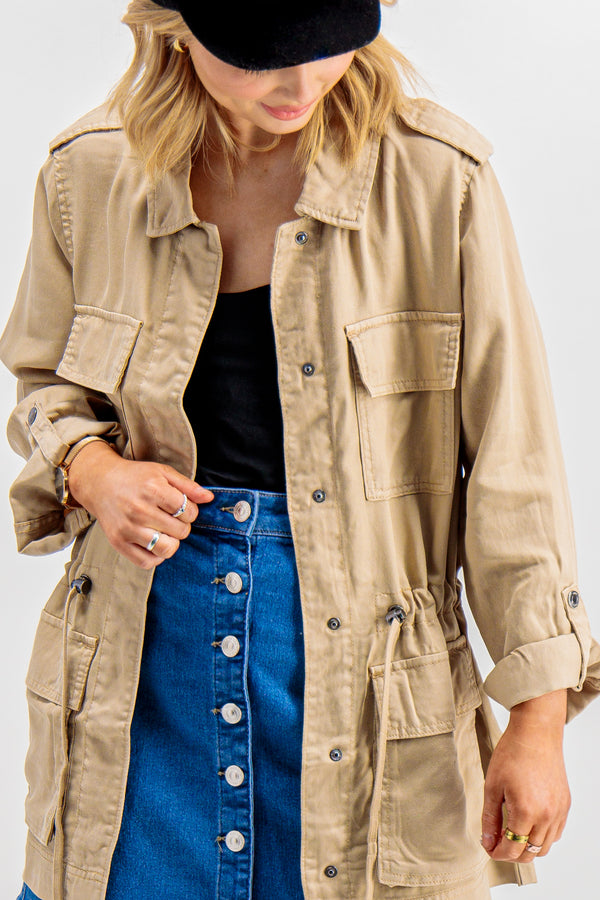 Kenya Utility Jacket In Beige