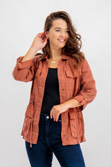 Kenya Utility Jacket In Rose