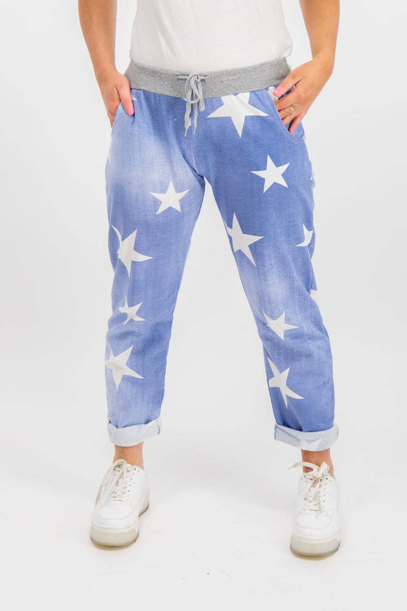 Zara Star Denim Pants