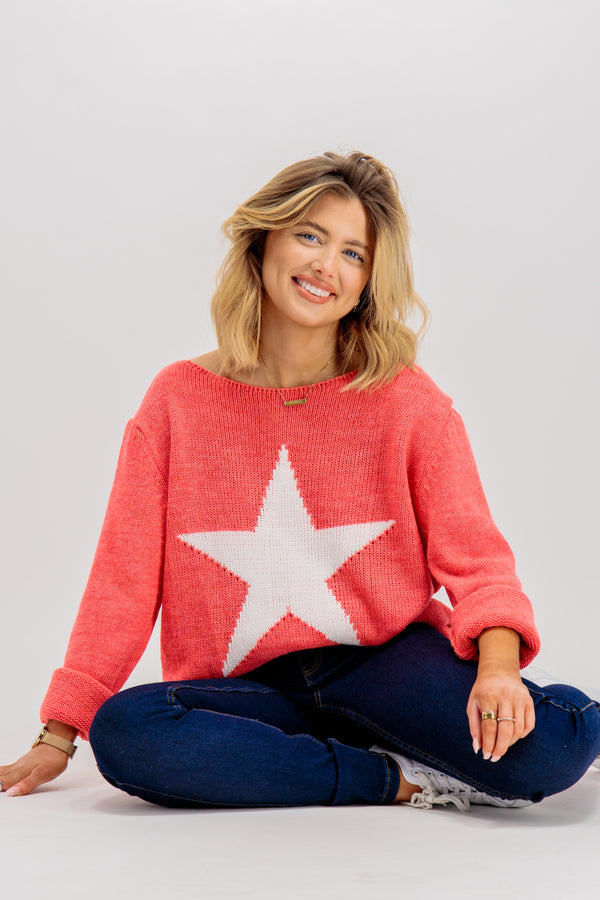 coral star knit