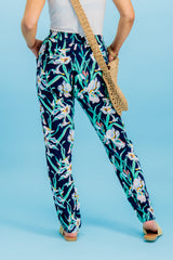 Simply Navy Floral Pants