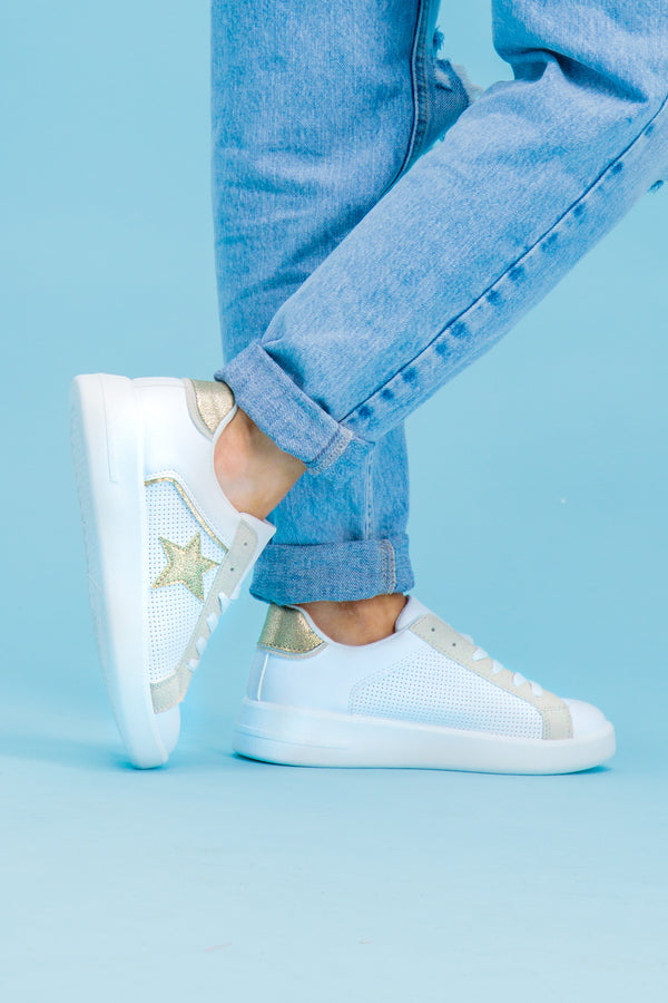 Myla Gold Star White Trainer