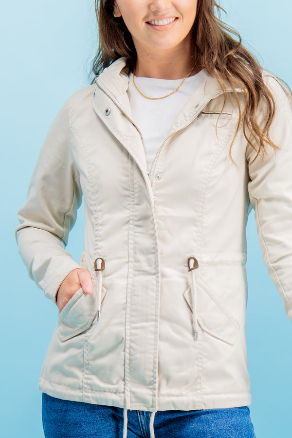 Lorca Cream Parka Jacket