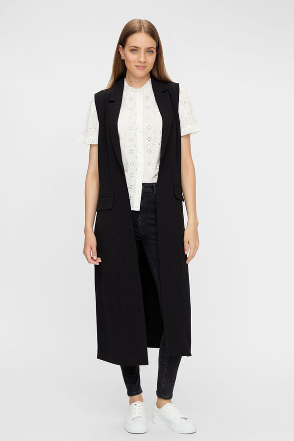 Dana Black Sleeveless Blazer