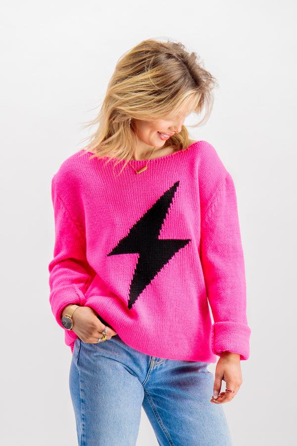 Lacey Pink Lightning Knit