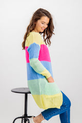 Melia Multi Striped Long Cardigan