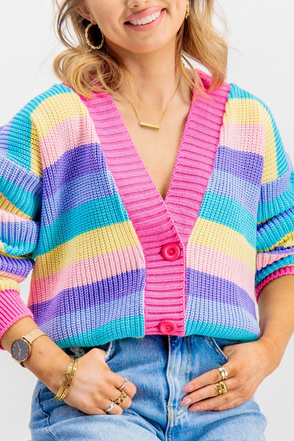 Milly Multi Striped Cardigan