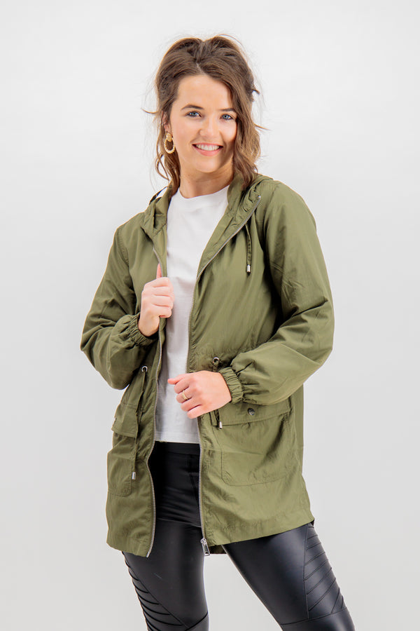 Anni Long Jacket In Green
