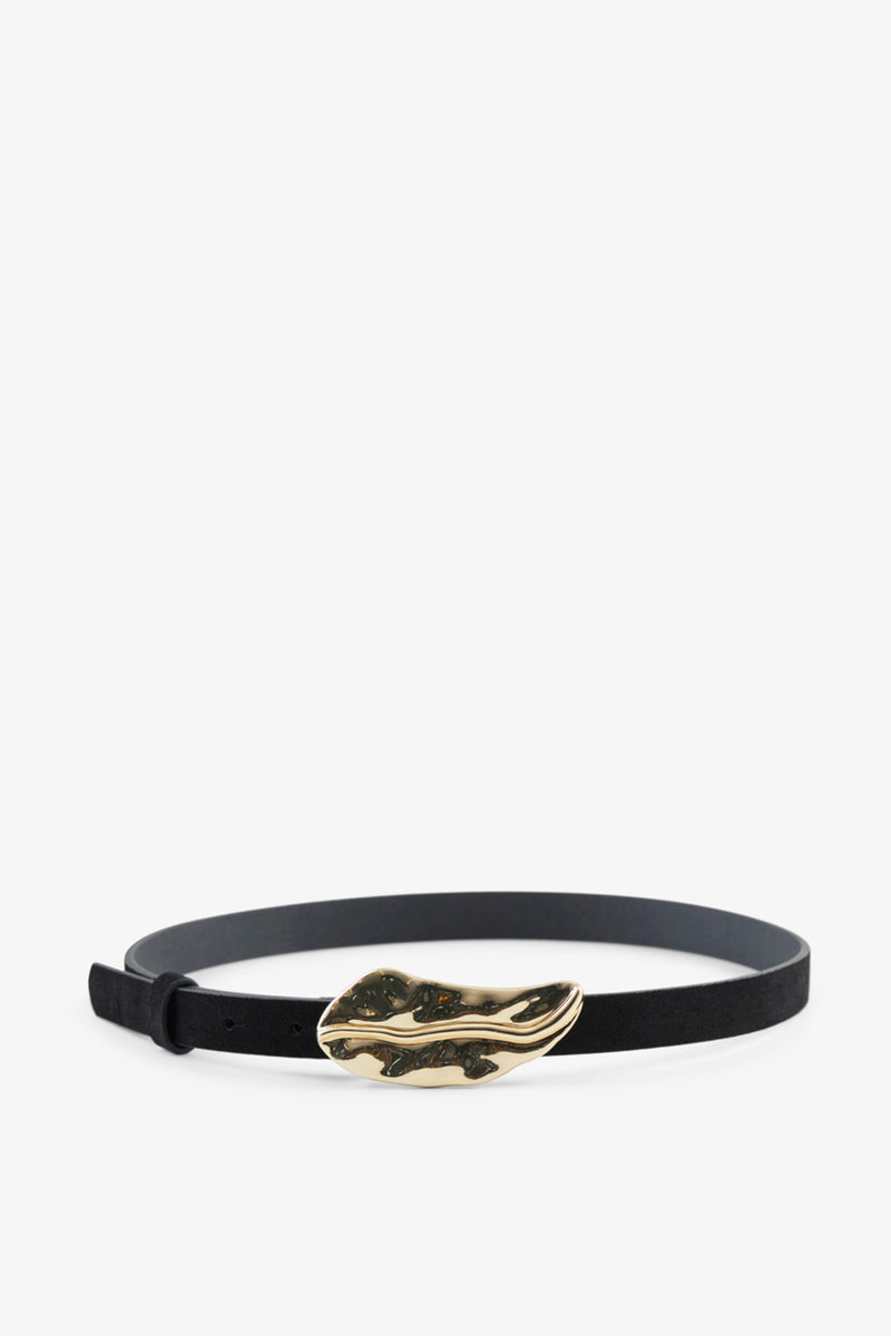 Leila Black Suede Belt