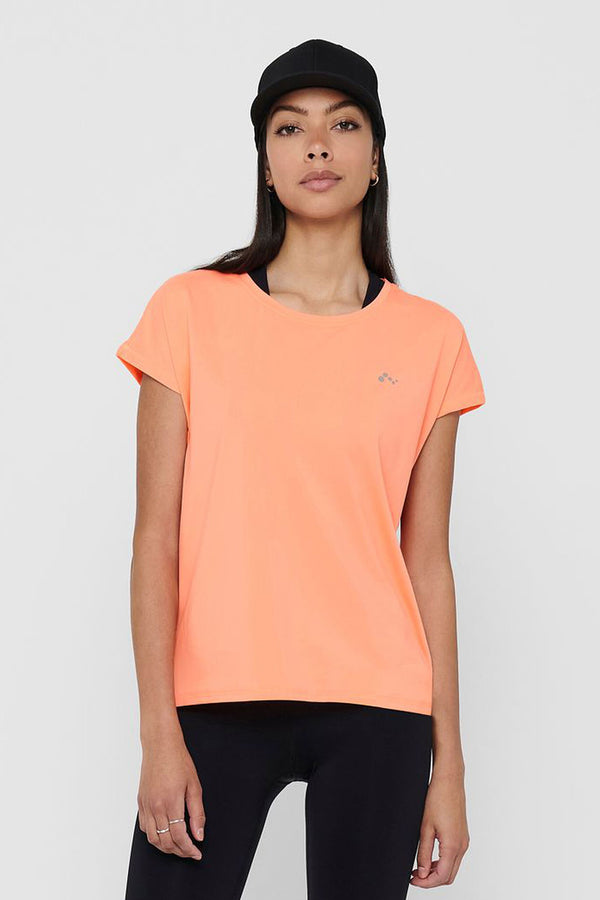 Only Play Paubree Training Top In Neon Orange