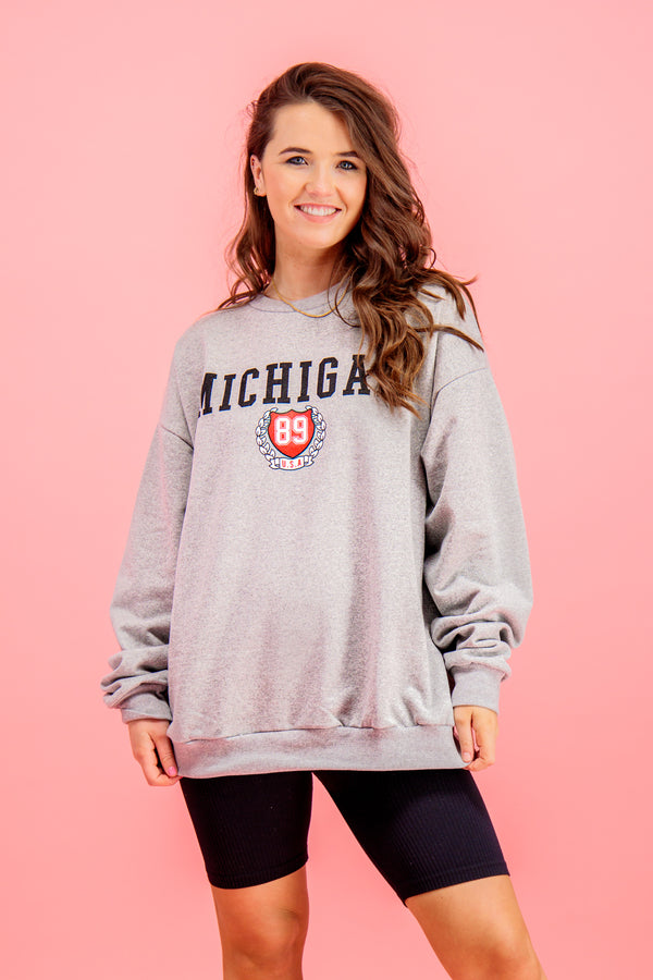 Lola Grey Michigan Sweatshirt