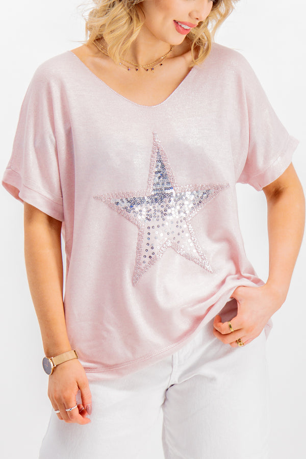 Alexa Blush Star Tee