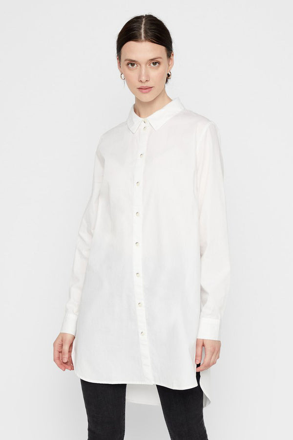 women's long shirt in cream