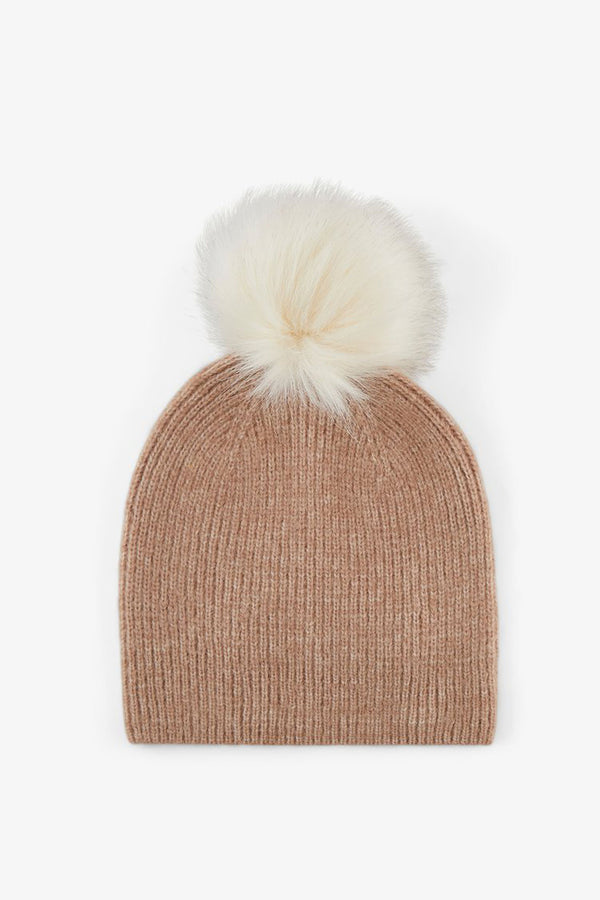women's beanie hat in beige
