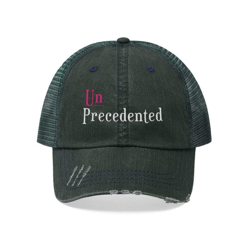 Printify Hats Dark Green/Navy / One size Unprecedented Unisex Trucker Hat