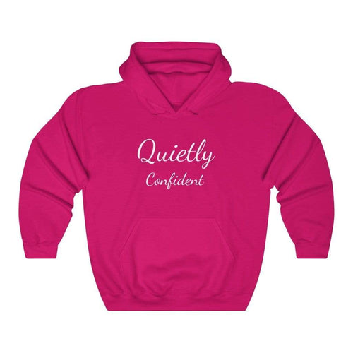 Printify Hoodie Heliconia / S Quietly Confident Hooded Sweatshirt