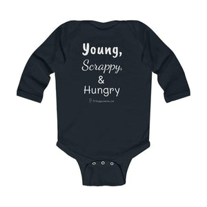 Printify Kids clothes Black / 18M Young, Scrappy, & Hungry