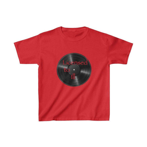 Printify Kids clothes Red / L License to ILL Kids Tee
