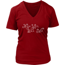 Load image into Gallery viewer, teelaunch T-shirt District Womens V-Neck / Red / S Mask Yes, Bra No