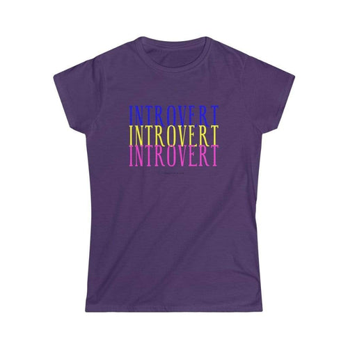 Printify T-Shirt L / Purple Introvert Tee