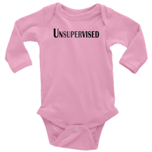 Load image into Gallery viewer, teelaunch T-shirt Long Sleeve Baby Bodysuit / Pink / NB Unsupervised