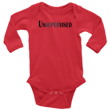 Load image into Gallery viewer, teelaunch T-shirt Long Sleeve Baby Bodysuit / Red / NB Unsupervised