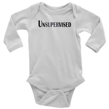 Load image into Gallery viewer, teelaunch T-shirt Long Sleeve Baby Bodysuit / White / NB Unsupervised