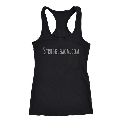 teelaunch T-shirt Next Level Racerback Tank / Black / XS Strugglemom.com