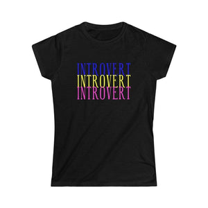 Printify T-Shirt S / Black Introvert Tee