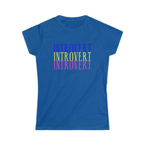 Printify T-Shirt S / Royal Introvert Tee