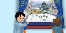 Load image into Gallery viewer, Winter Children's Story & Audio Book Hardcover - Toddlyworld