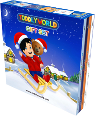 Toddly World Gift Set Children's Story & Audio Books Hardcover - Toddlyworld