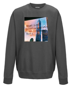 DREAMS SO BIG - SMOKEGREY SWEATER