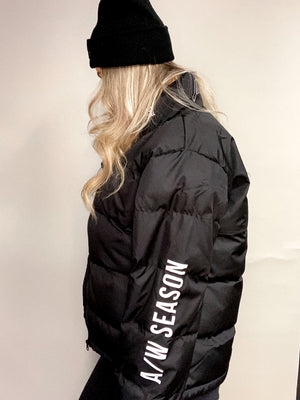 '' SEASON '' BLACK PUFFER JACKET