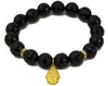 black faceted onyx with gold plated buddha