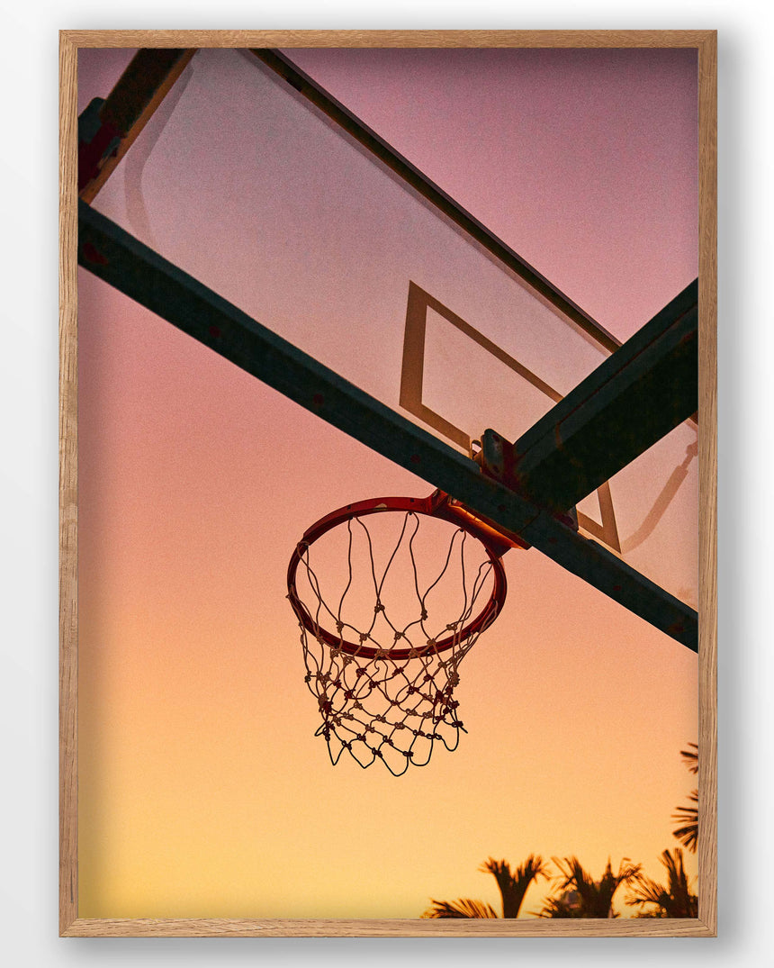 Basketball Heaven is a photo from another epic sunset in Malaysia.