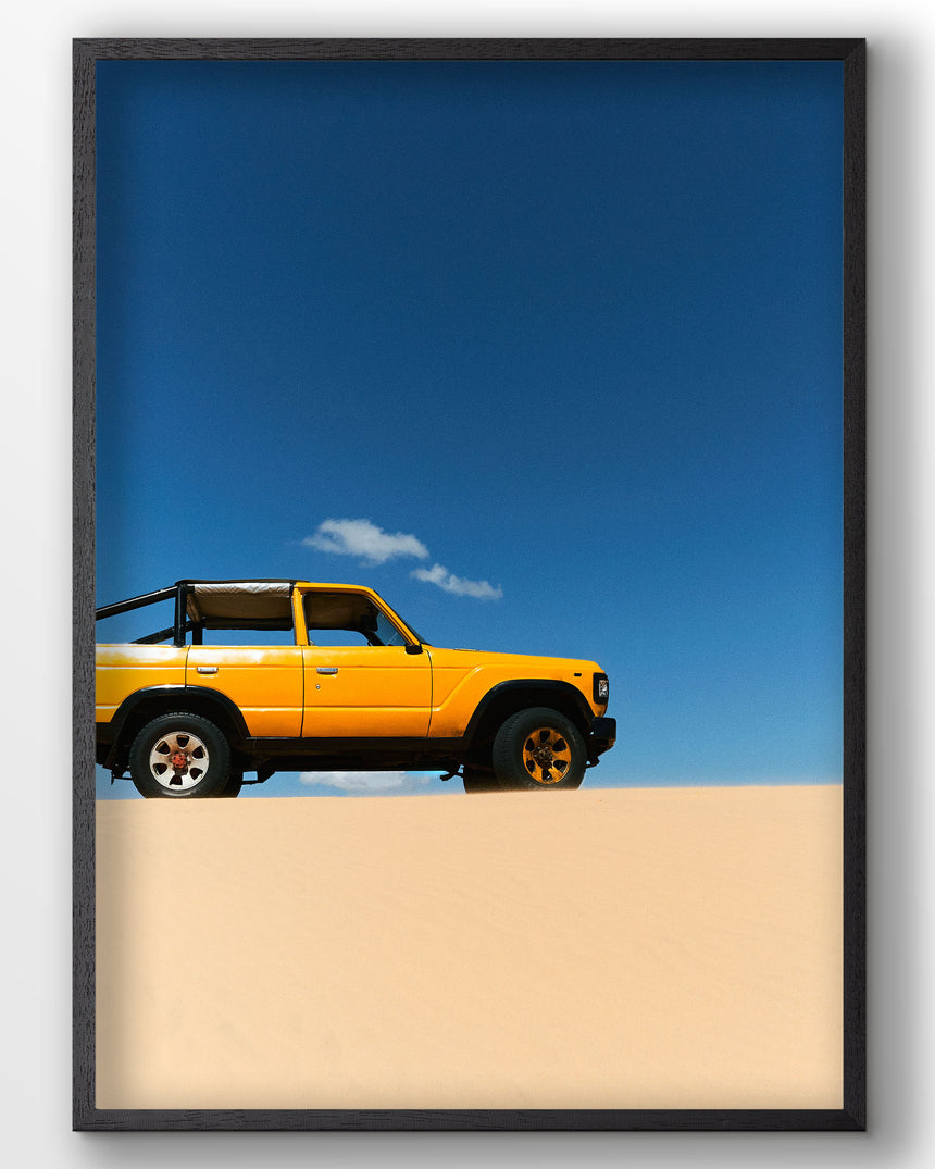 A poster from the desert called White Sand Dunes in Vietnam
