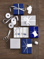 Gifts Cocktail Napkins Blue and Silver