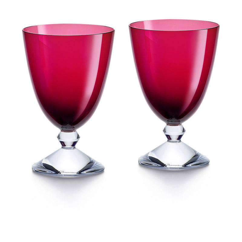 Red Vega Water Glass - Set of Two