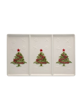Christmas 3 Section Appetizer Tray