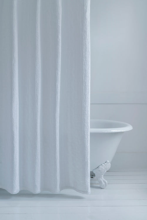 Contempo  White Shower Curtain