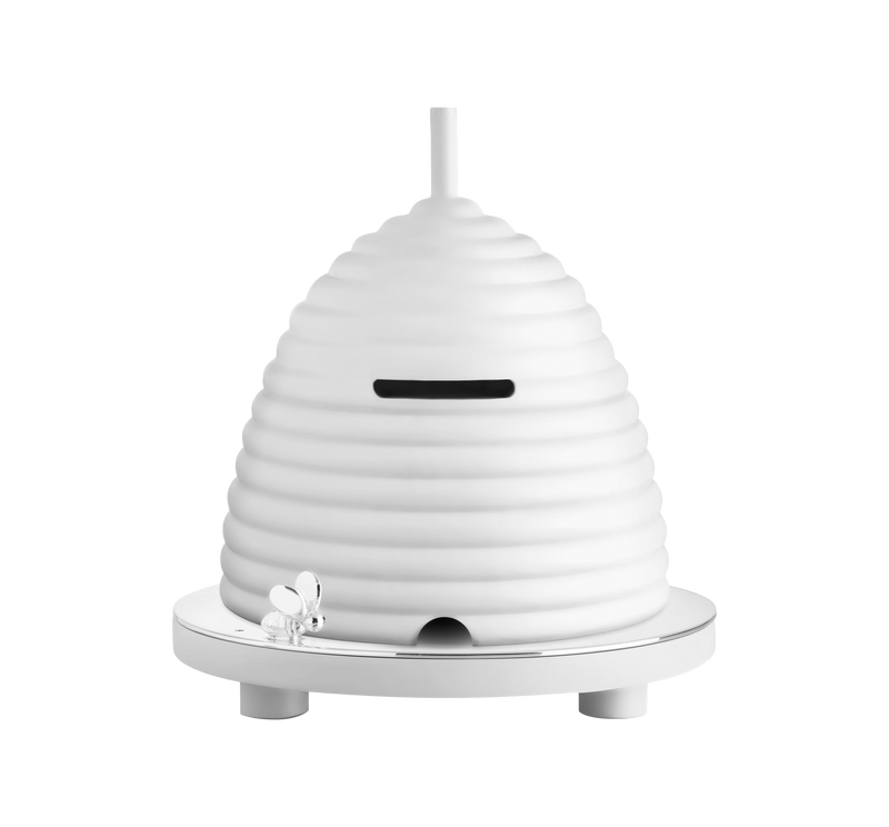 BEEBEE Silver-Plated & Wood Beehive Bank